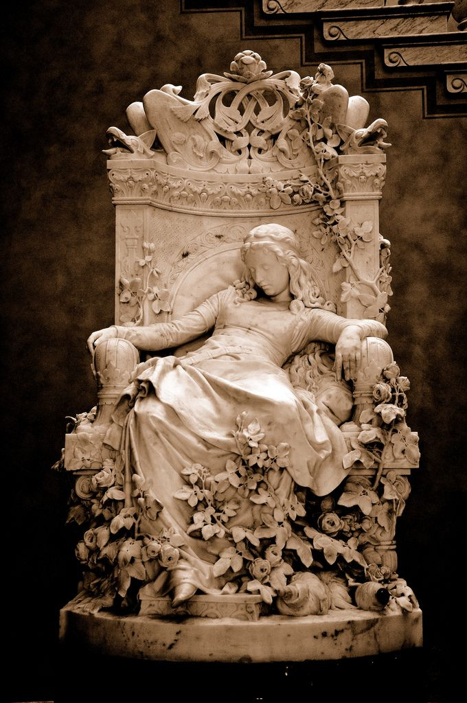Dornröschen (Sleeping Beauty) by Louis Sussmann-Hellborn (1878), via Alte Nationalgalerie, Berlin, Germany
