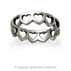 Tiny Hearts Band from James Avery.   Had this ring when I was little. It's still around somewhere