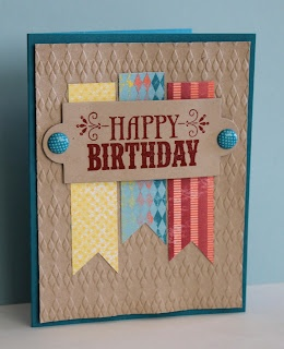 Great layout for a masculine birthday card.