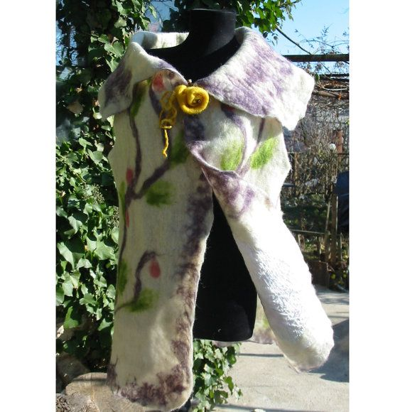 Felt Dress Felt JacketWoman GiftFelt WrapWoman by RumiWay on Etsy, $87.00