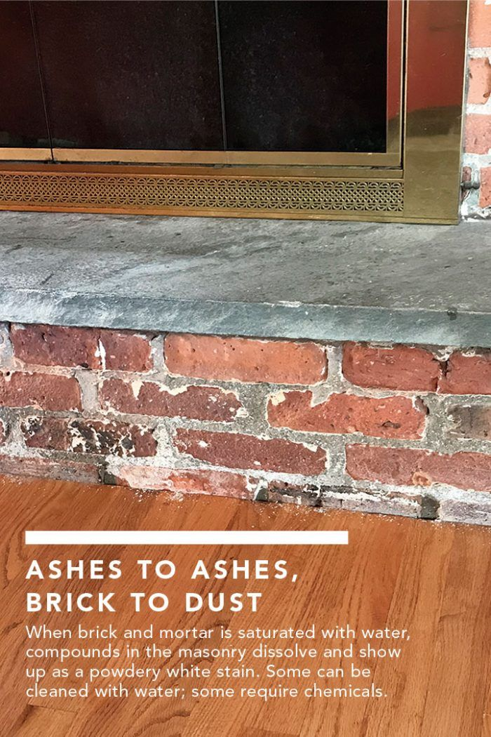 White Dust On Brick Fireplace Brick Fireplace Brick Building A House