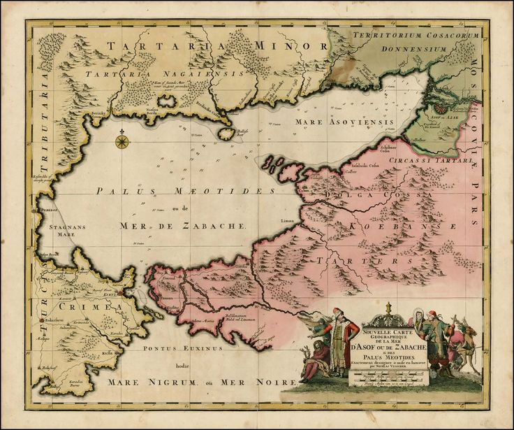 Map of the Sea of Azof, northern Black Sea and Ukraine, 1700