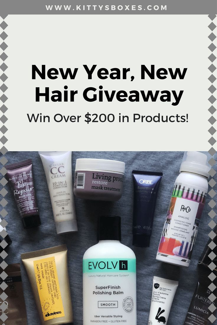 Looking to upgrade your hair game in 2018? Enter the New Year, New Hair Giveaway for your chance to win over $200 in hair care products to help you achieve your goals! No purchase necessary. Hosted by Kitty at Kitty's Boxes (www.kittysboxes.com)