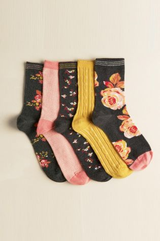Buy Five Pack Craft Floral Socks online today at Next: Turkey