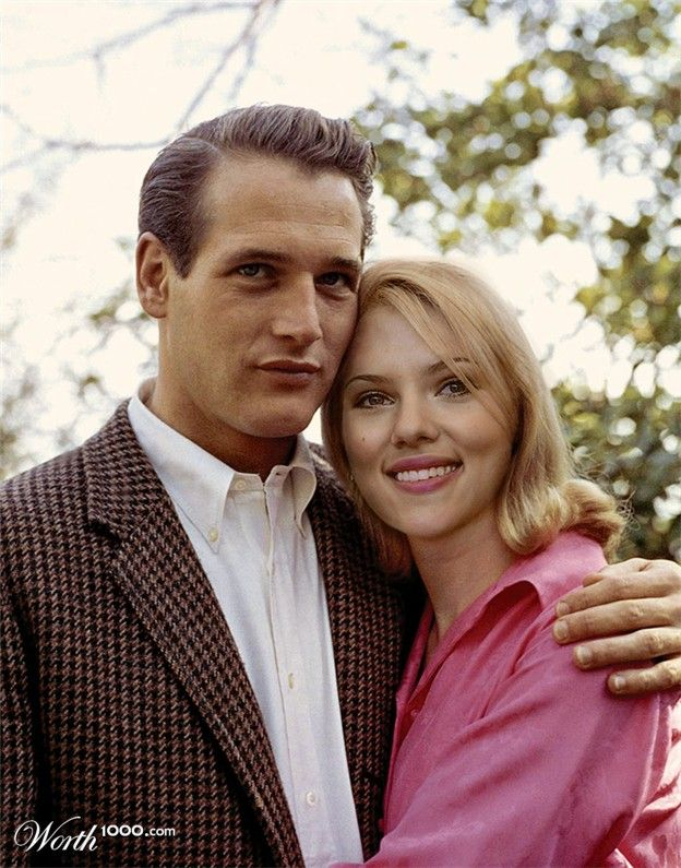 Impossible Celebrity Couples: Paul Newman and Scarlett Johansson  --she's my favorite!!