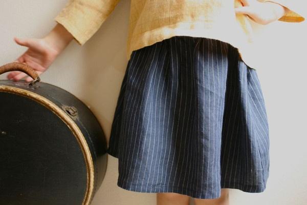 pinstripe skirt from modaspia.: Blouses, Skirts Pintstrip, Etsy, Future Daughters, Children, Yellow, Swirls, Products, Pinstriping Skirts