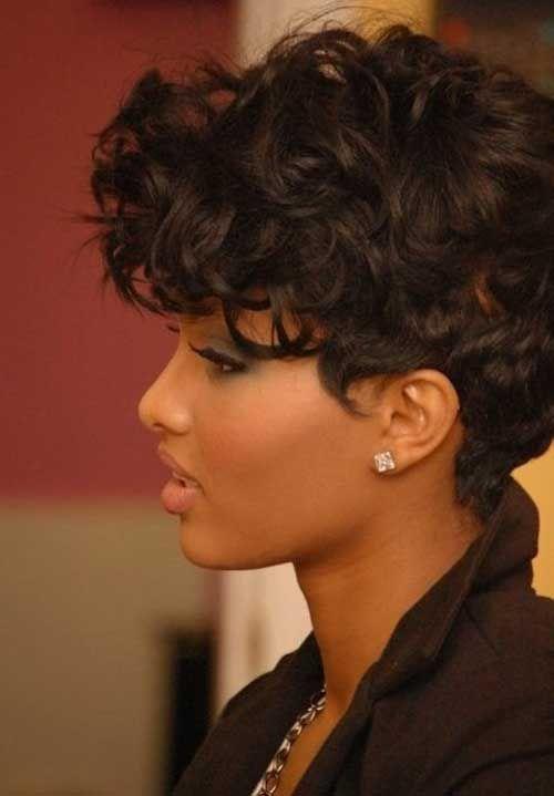 cortes de pelo corto para el grueso del pelo ondulado