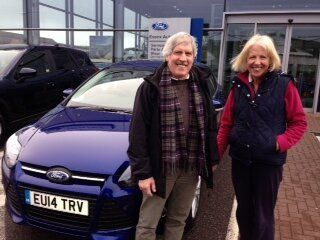 Mr and Mrs Chisholm picked up their new 14 plate car at our Rayleigh showroom.