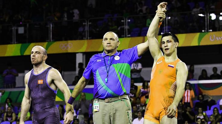 rio 2016 gold medalist russia rus denmark den greco roman 75kg mens