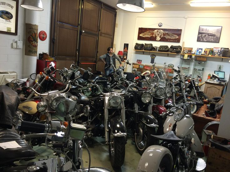 Me in My shop: Old Milwaukee garage. I sell Classic Harley Davidson. My passion since i was boy