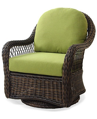 Windemere Wicker Patio Furniture, Outdoor Swivel Chair   Outdoor Dining    Furniture   Macyu0027s
