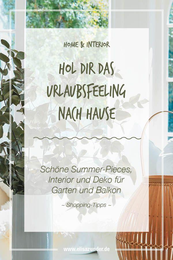 Hol Das Urlaubsfeeling Nach Hause Interior Und Deko Fur Den