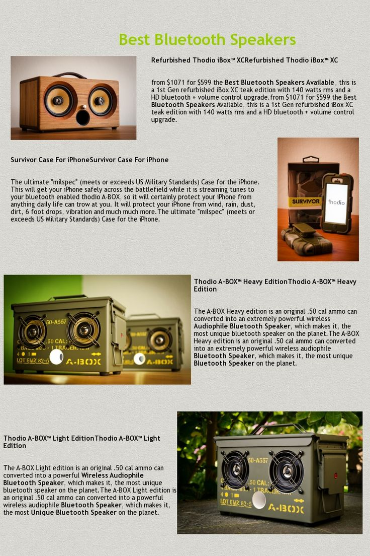 Best Portable Bluetooth Speakers, iBox, Abox, Boombox Speakers are Available : http://store.thodio.com/