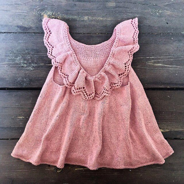 - Englekjolen -  Danish pattern now available at www.knittingforolive.dk English pattern coming soon!  Sizes from 1-10 years.  #angeldress #englekjole #newpattern #barnestrikk #jentestrikk #knitforkids #knitforgirls #strikktiljente #knitting #knitting_inspiration #puresilk #knittingforolivespuresilk #knittingforolive
