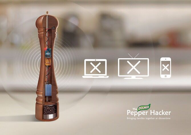 Tired of the disconnect at the dinner table then makers of Australian pasta sauce Dolmio have the solution, a pepper mill that blocks WiFi one grind at a time. #Dolmio #Australia #WiFi #peppermill #pasta #apps #sony #gamers #videogames #technology #hackers #technews #techculture #gamer #socialglims #socialmedia #socialmediamarketing #dubai #mydubai #expo2020  #onlineshopping #mefcc