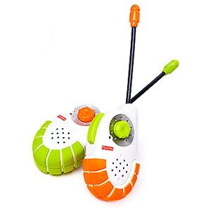 Kid-Tough Walkie Talkies            Fun and functional, these walkie talkies transmit up to 200 feet and are virtually kid-proof with protective bumpers and a battery-saving auto shut-off.