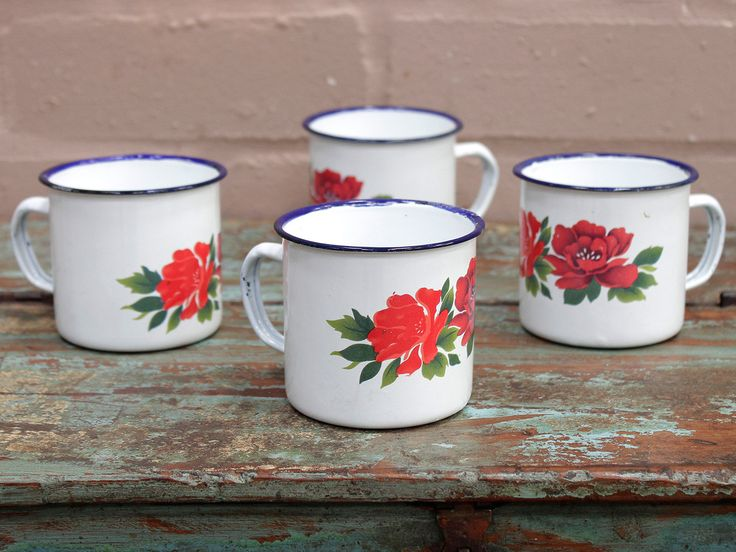 Be ready to entertain at any time with our Small Floral Enamel Mugs - perfect for having your friends rounds for a cuppa https://www.scaramangashop.co.uk/item/8623/152/Tableware/Small-Floral-Enamel-Mugs-Set-Of-4.html