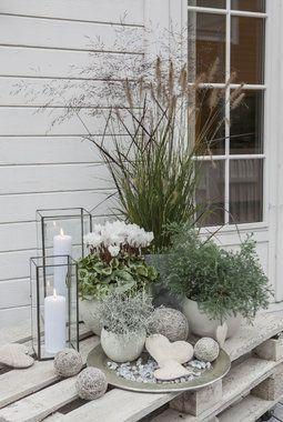 Stilleben auf der Terrasse in zarten Farben. –