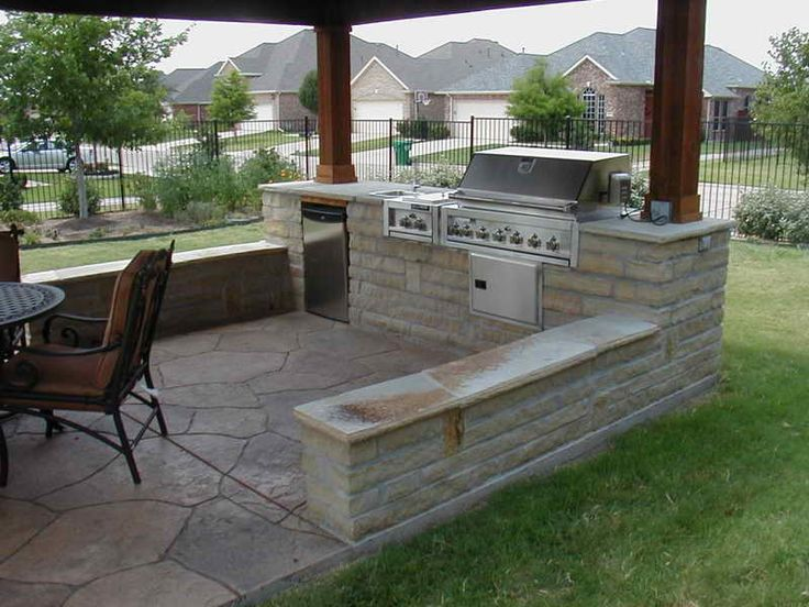 25 best ideas about simple outdoor kitchen on pinterest - How to build an outdoor kitchen a practical terrace ...