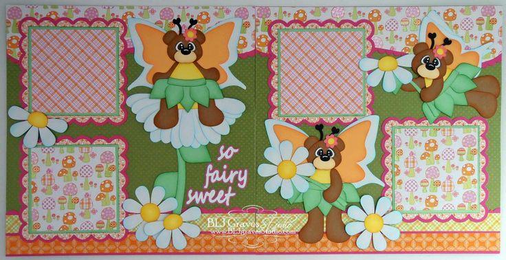 Fairy Sweet Scrapbook Pages | Paper piecing scrapbooking ...