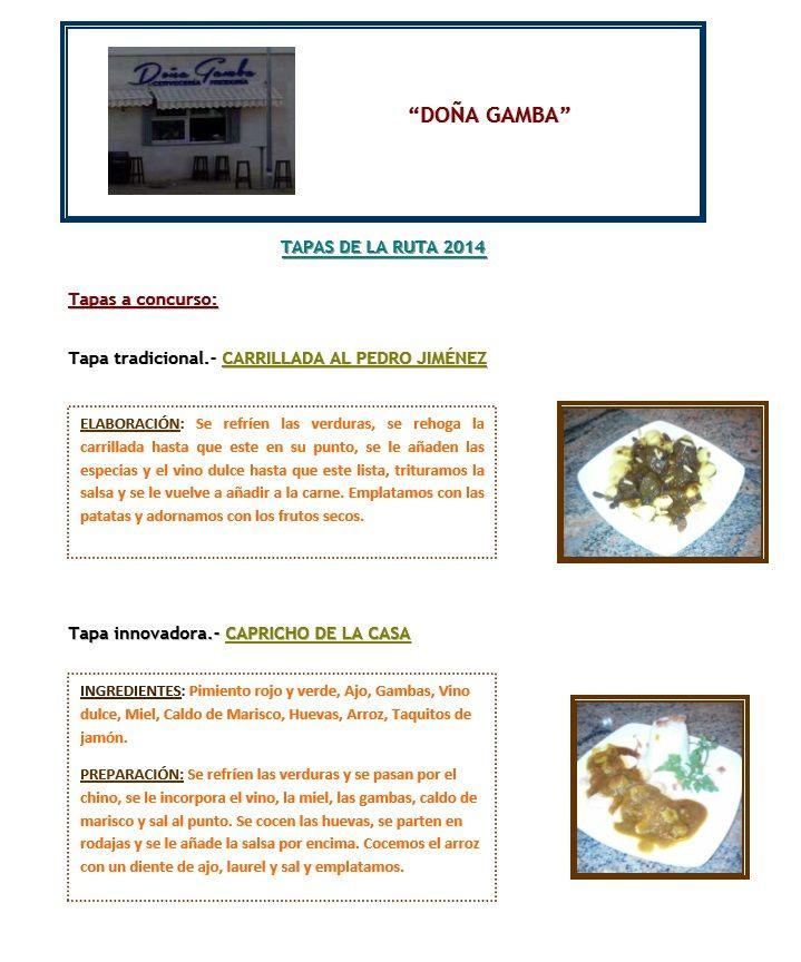 ¿Que os parecen las tapas con las que Doña Gamba se inicia en la VI Edición de la Ruta de la Tapa en Lebrija?