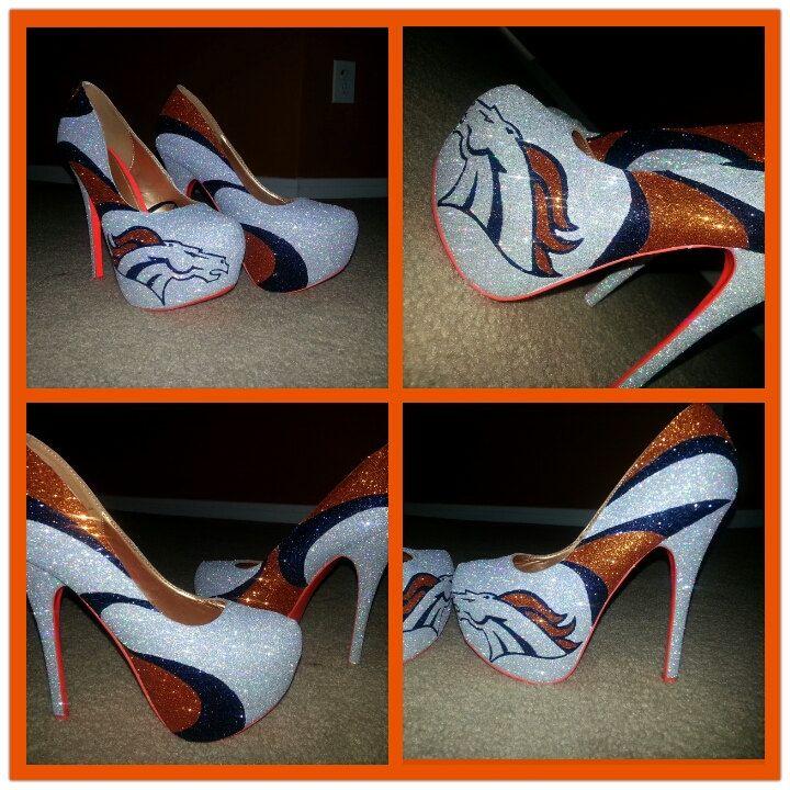Denver Broncos custom heels Away Edition by Akkustomz on Etsy, $180.00