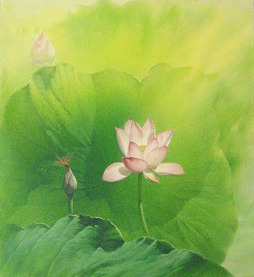 Jiang Debin. Waterlilies