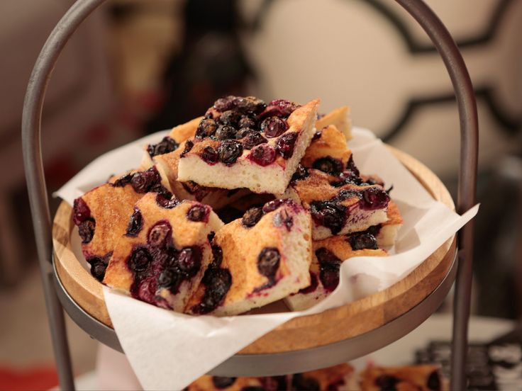 Blueberry Focaccia recipe from Giada De Laurentiis via Food Network