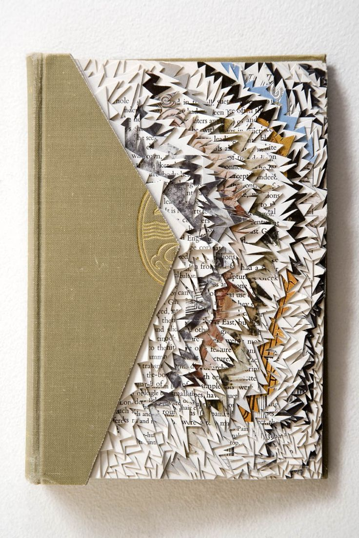 altered book #bookart #library