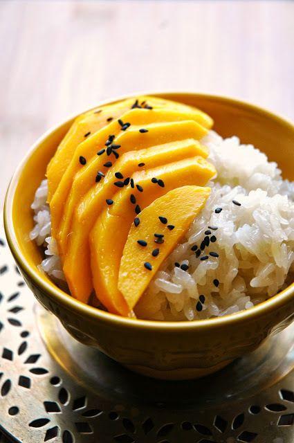 foodthesex: Request (abcfuxq) - Thai Dessert (Coconut riso appiccicoso con Mango)