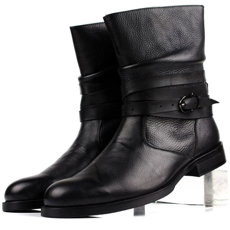 125.00$  Watch here - http://alixmd.worldwells.pw/go.php?t=32324934265 - 2017 New Autumn/Winter Men's High Boots Genuine Leather Medium-Leg The Trend Of SleeveTactical Boots Delta Black Military Boots