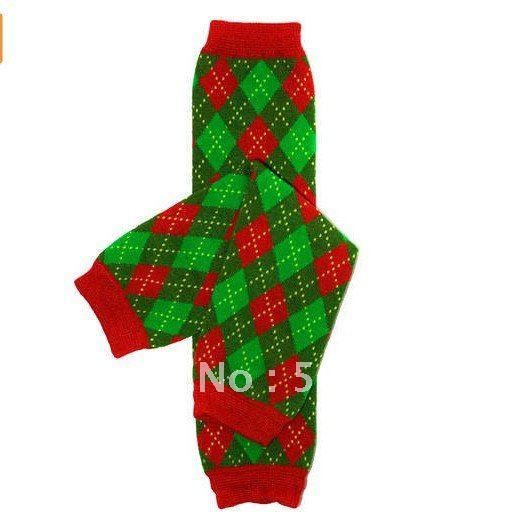 Baby Christmas Argyle Leg Warmers Kids Leg Warmer Xmas Baby Leg Warmers 60pair/lot