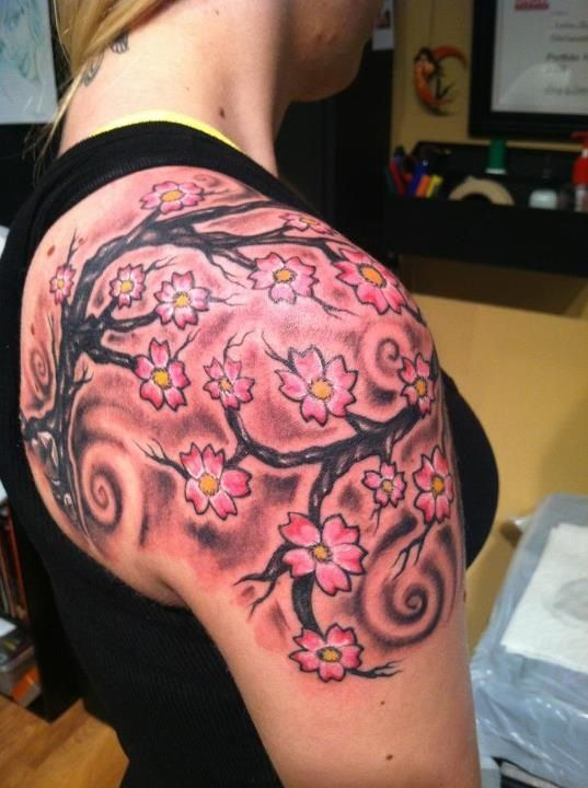 Japanese cherry blossom arm tattoo | Inked! | Pinterest ...
