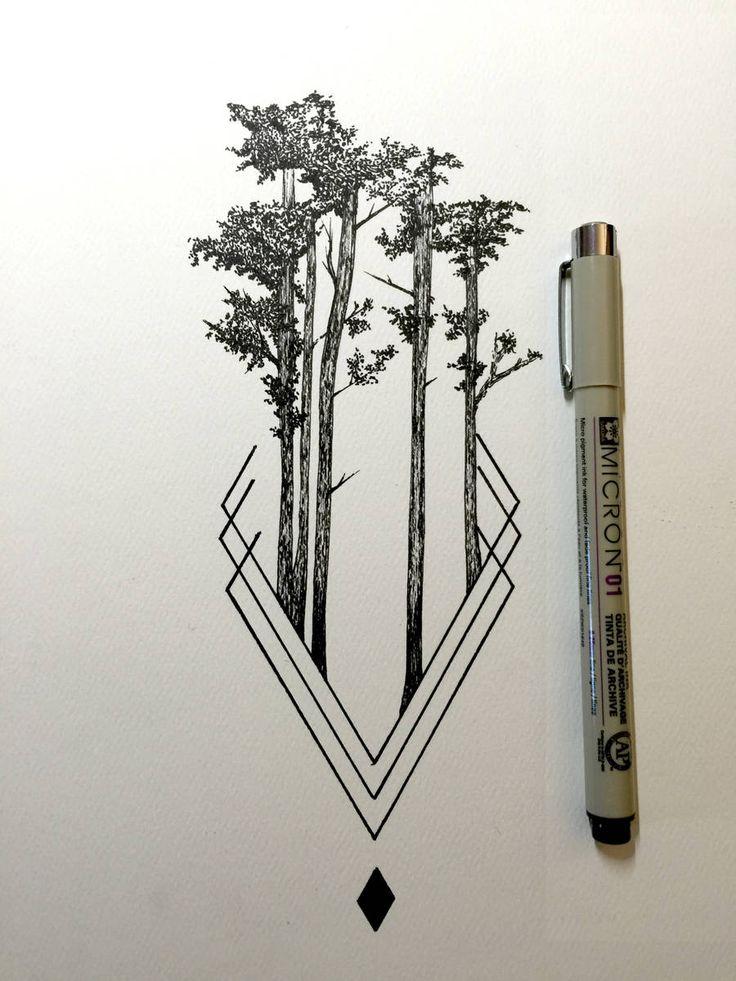Chaque jour depuis un an environ, Derek Myers dévoile un dessin qu'il a réalisé au feutre noir fin. Ses compositions sont de petits paysages sauvages s