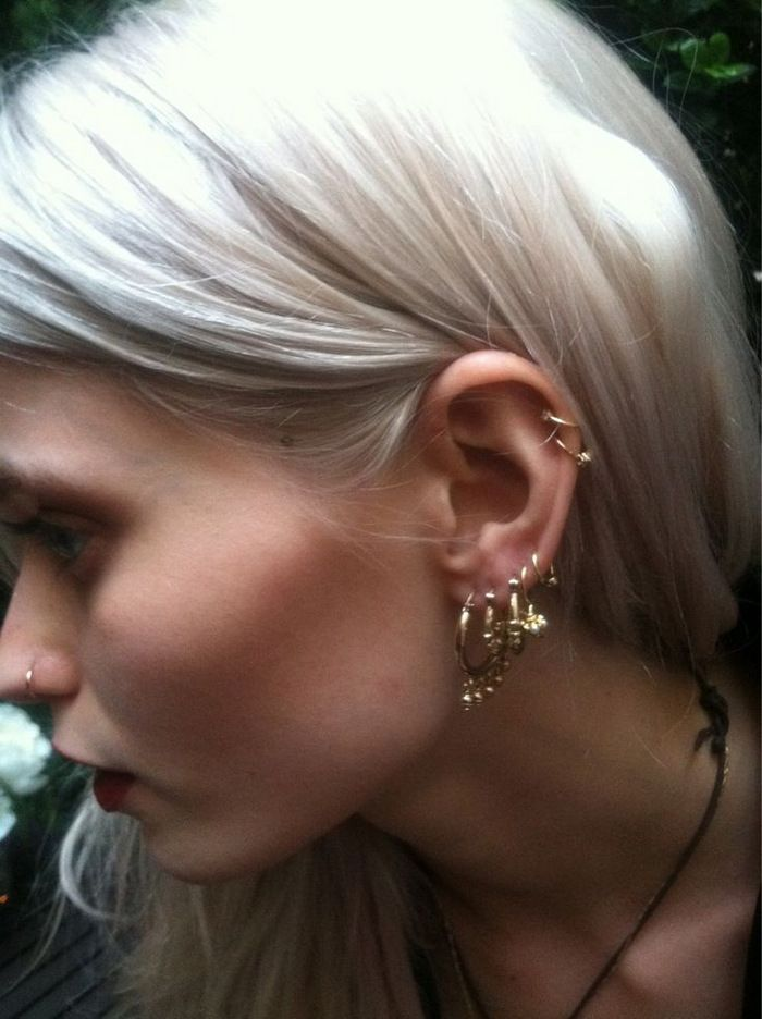 Abbey Lee Kershaw - Ear bling (+ white hair)