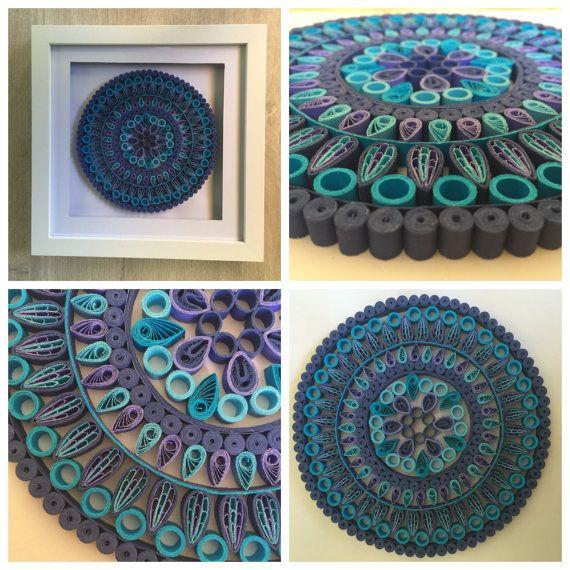 Quilling Artwork Floral Mandala Paper art by paperfolddesign