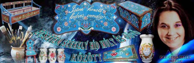 Kézzel festett Székely népi bútorok, kerámiák