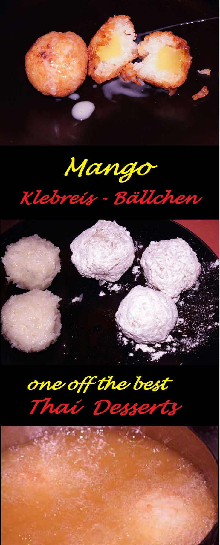 Mango-Klebreis-Bällchen  ein süßer Traum aus Thailand!