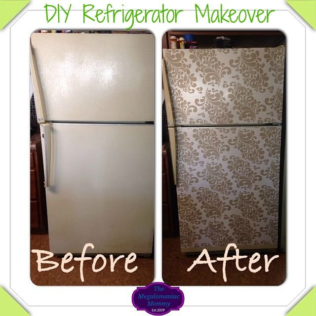 Check out my quick, easy and inexpensive DIY Refrigerator Makeover using Duck Tape Brand decorative laminate (contact paper). #notsponsored
