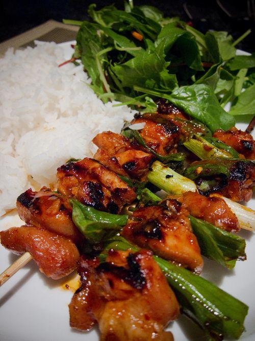 Skewered Chicken | Asian Cuisine | Pinterest