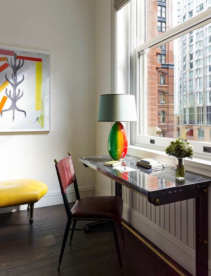 The stunning multicoloured fitting at The Beekman