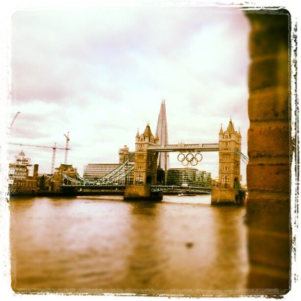 Olympic rings, suspended from Tower Bridge for London 2012 (photo mine)