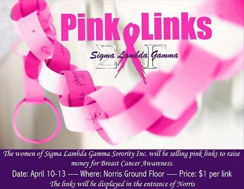 Sigma Lambda Gamma Pink Links - April 2012