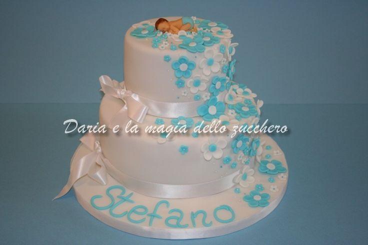 #Torta Battesimo bimbo #Baptism cake