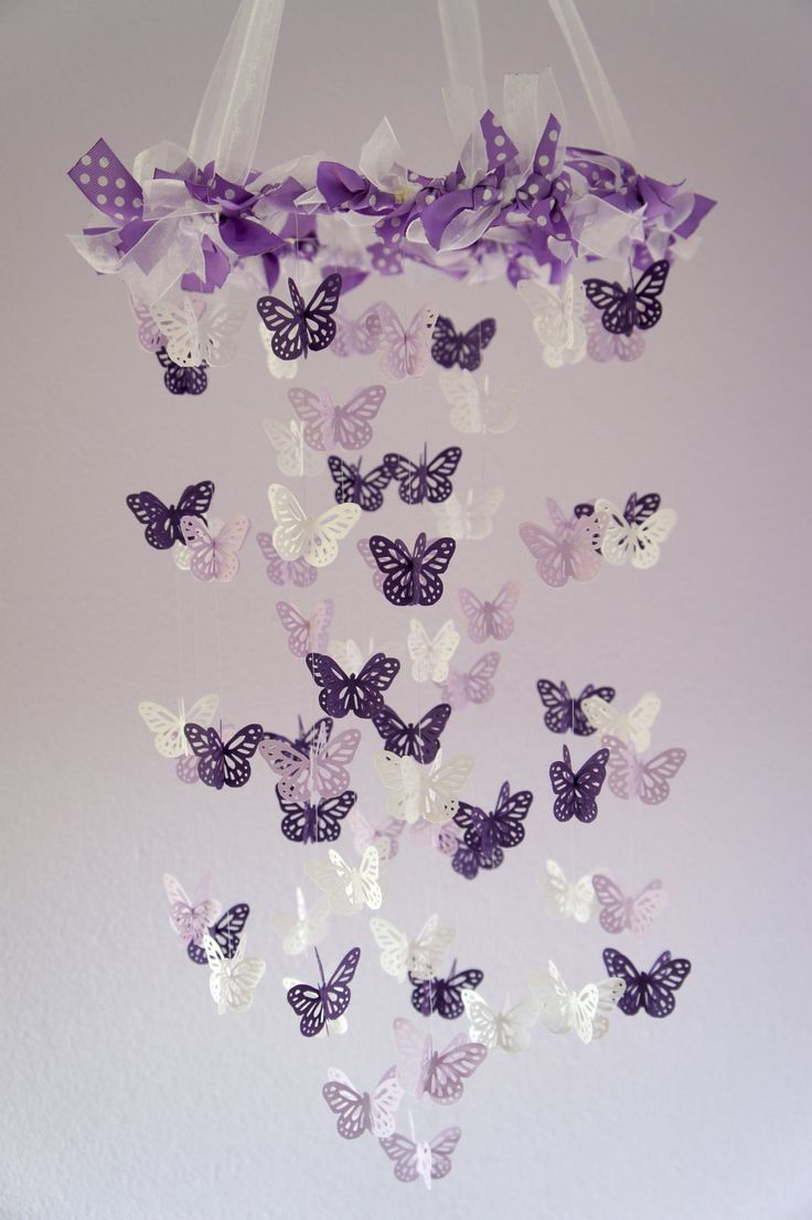Gift free and Nursery black Baby Butterfly Decor  Purple mens Girl Nurserys Butterfly Baby Nursery Girl Mobile  Girl black Baby Purple run Lavender   Shower Mobile  on