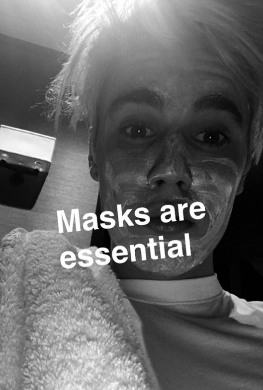 So Justin Bieber is giving out beauty advice on Snapchat now... Lol aww :3