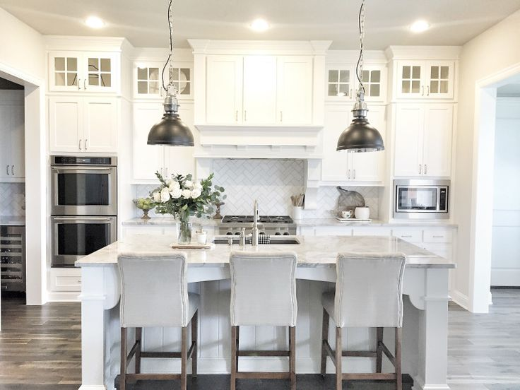 Kitchens With White Cabinets And Dark Floors best 25+ white cabinets ideas on pinterest | white kitchen