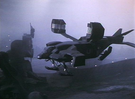 She may have been a lunchbox with wings in the end, but still a fun vessel anyway - the Colonial Marine Dropship from Aliens.