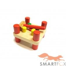 Wooden Hammer And Pegs Pounding Toy