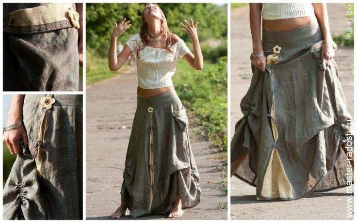 Вязаная юбка в цыганском стиле